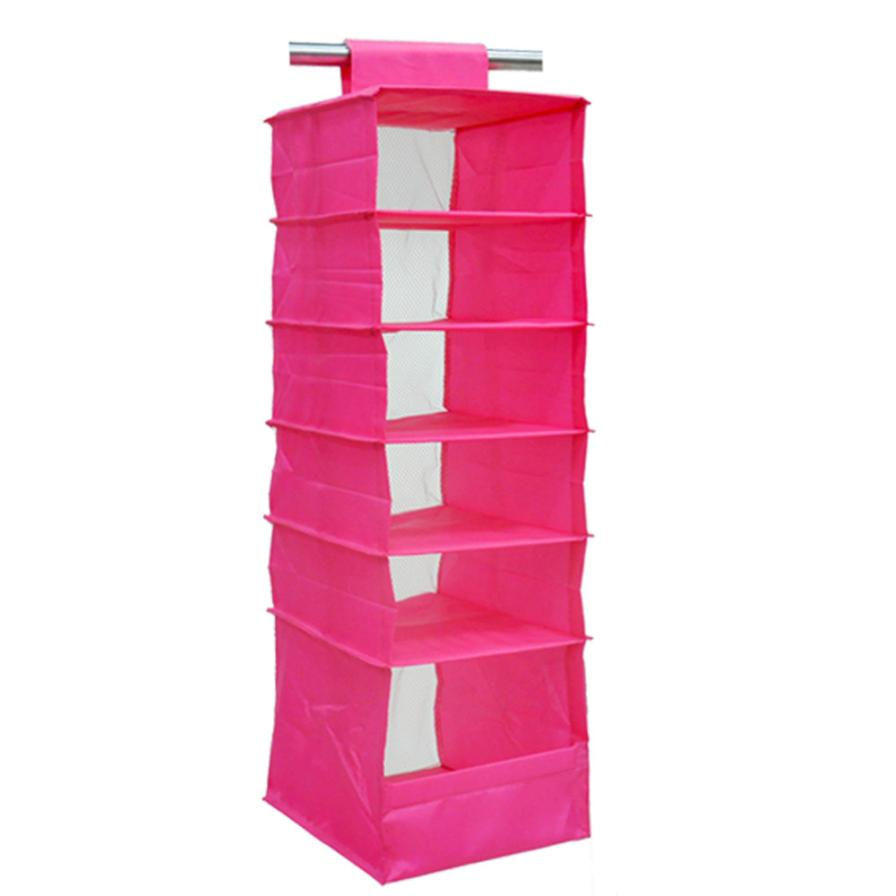 New Upgrade 6 Section Shelves Hanging Wardrobe Shoe Garment Organiser  Storage Clothes Rangement Household Storage Supplies