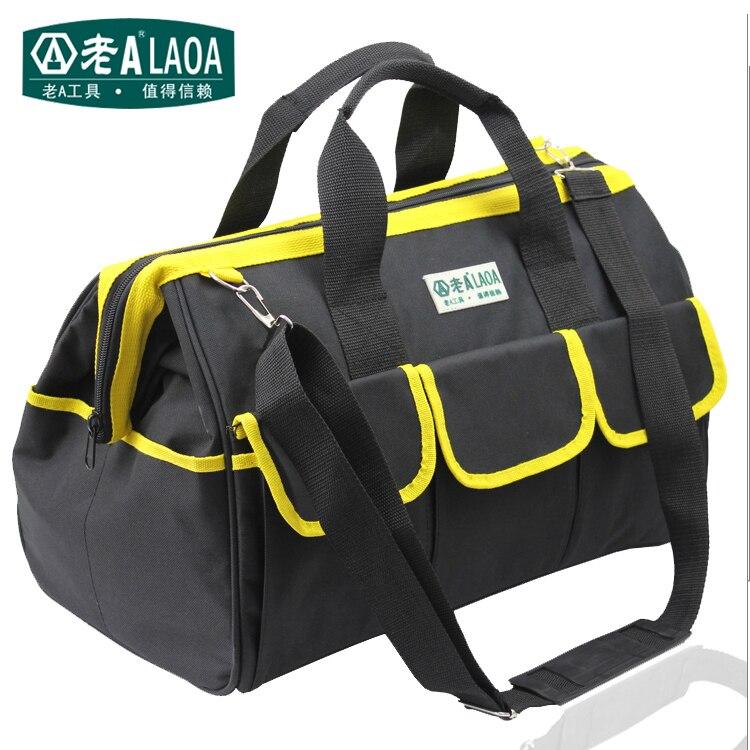 LAOA  Multifunction Tool Bag Large Capacity Thicken Professional Repair Tools Bag 12inch 14inch 18inch Messenger Toolkit Bag