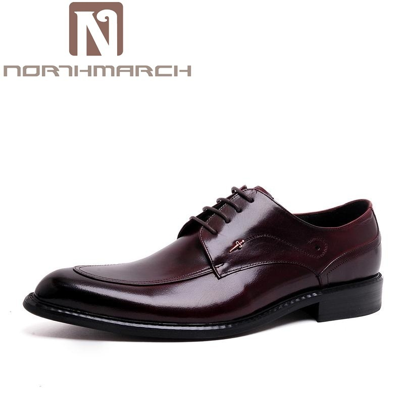 NORTHMARCH Italian Dress Shoes Men Genuine Leather Black Red Business Shoes Wedding Man Flat With Buckle Sapatos De Couro Homens мужской ремень cinto couro marca