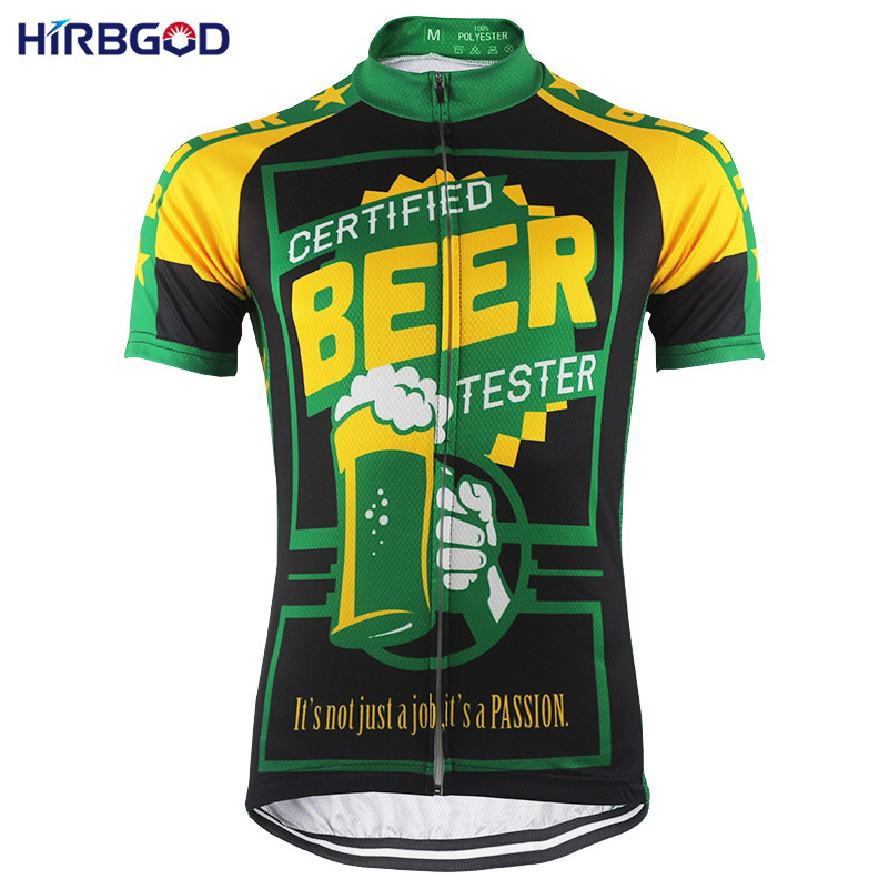 HIRBGOD Another Funny Men's Beer Cycling Jersey Short Sleeve Summer Mountain Bike Shirt Clothing Maillot Ciclismo Hombre-HK043