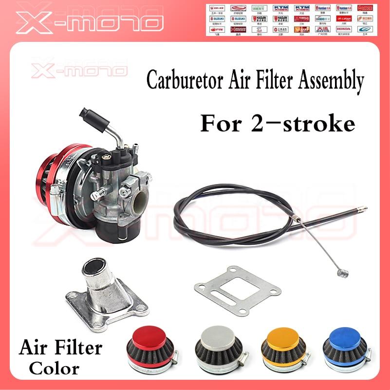 ATV 49cc производительность 19 мм карбюратор 58 мм воздушный фильтр кабель в сборе для 2 тактных 49cc 50cc 60cc 66cc 80cc мини карманный велосипед группа Карбюратор      АлиЭкспресс