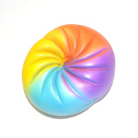 Funny Squishy Jumbo Rainbow Bun Phone Straps Accessories Slow Rising Scented Bread Soft Kids Play Food