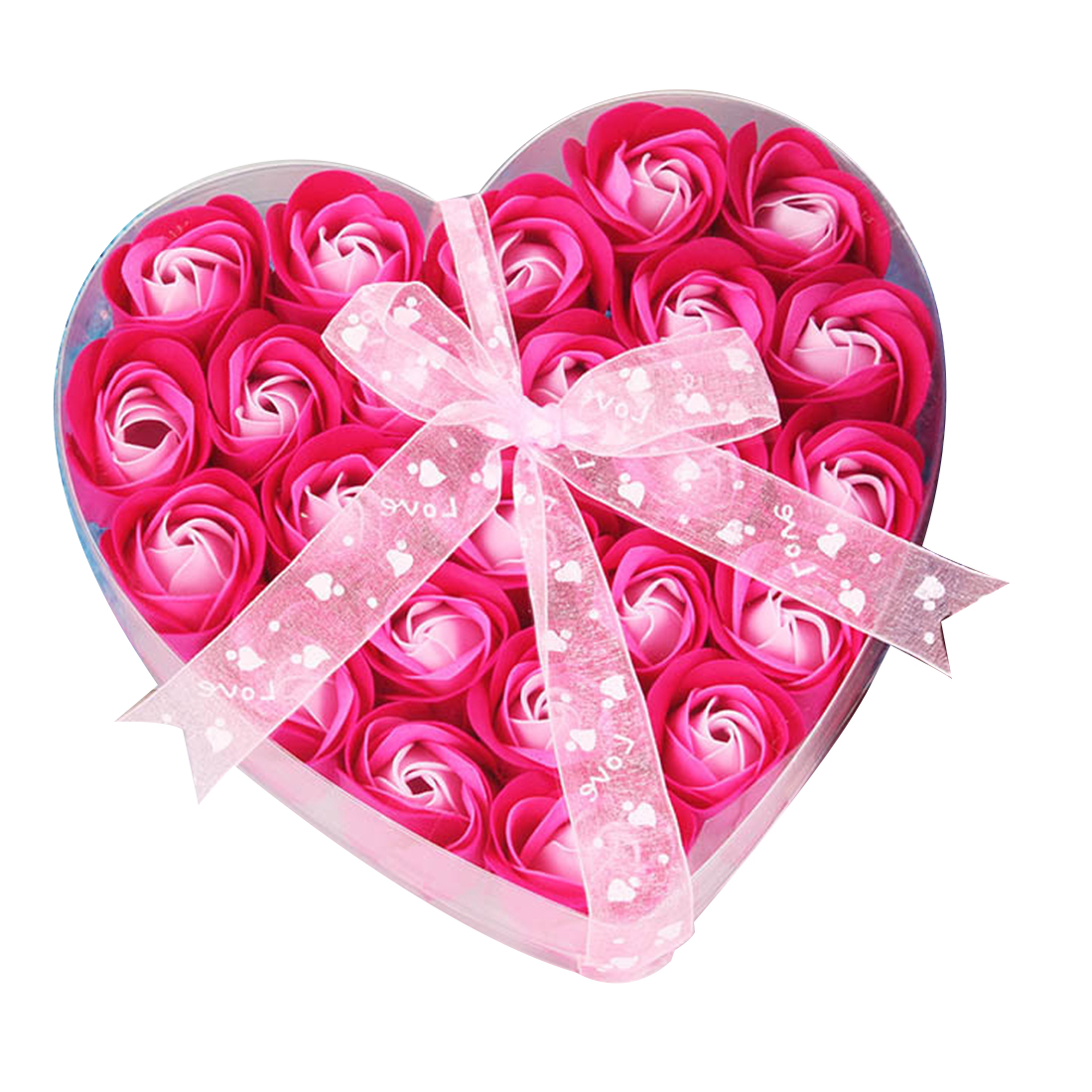 Simulation Rose Petal Paper Soap Wedding Decoration Valentine Gift  Heart Shape Pack Flower Scented Washing Cleaning Hand 24pcs