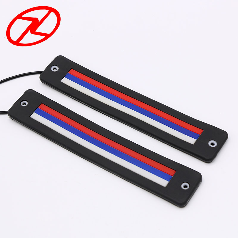 2PCS Waterproof Striped Colors COB Chip LED Cars Flexible Daytime Running Light Auto Daylight DRL 186mm