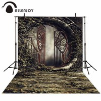 Allenjoy Photographic Background Barren Plant Iron Door Rusty Vintage New Backdrop Photocall Photo Printed Customize Design