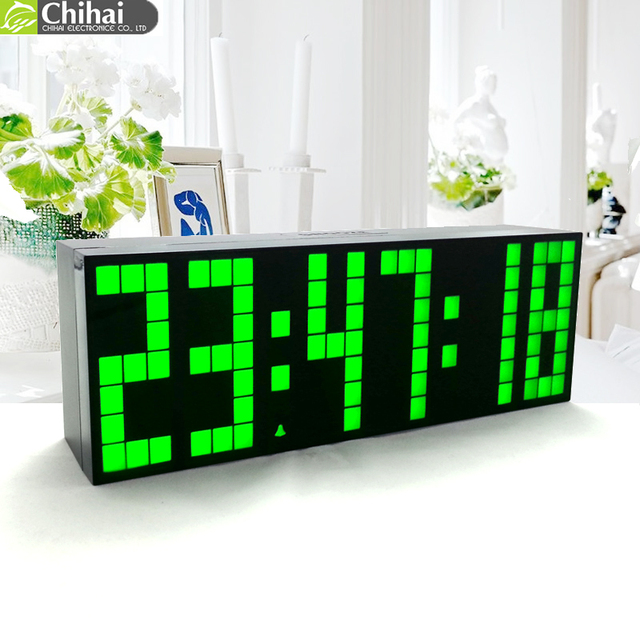 Free Shipping Digital Wall Clock Large Display Led Backlight Clock
