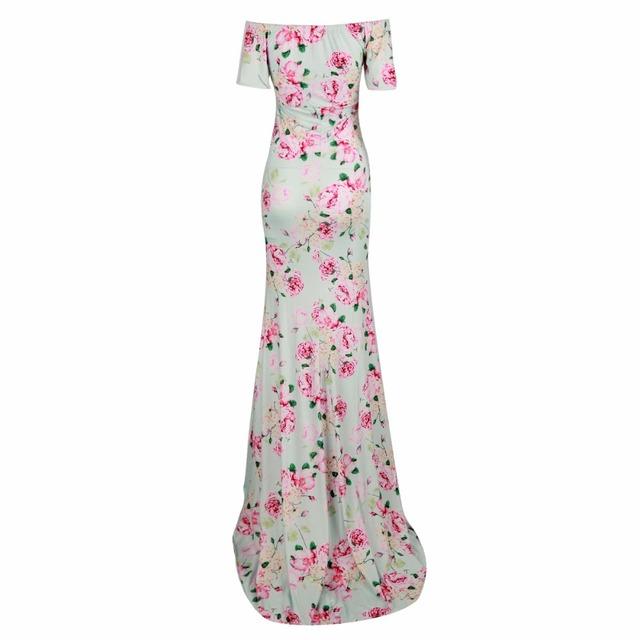 Nursing Maternity Clothing Floral Long Length  Maxi Dress