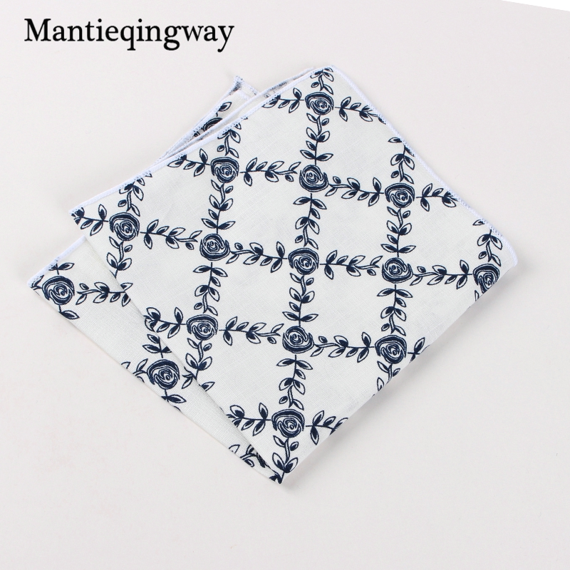 Suits Cotton Flower Handkerchiefs For Mens Fish Pocket Square Striped Hankies Floral Business Pocket Towel Hanky