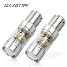 2x S25 BA15S 1156 140 Вт CREE чип XBD светодиодный Фары заднего хода лампа P21W DRL дневного света остановить Резервное копирование задние фонари