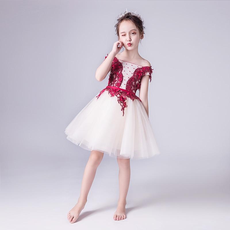 e44ecda2d9f4d 2019 new fancy butterfly kids girl wedding flower girls dress princess  party pageant formal dress prom little baby girl dress