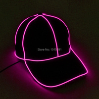 High Quality Event Gift Glowing Neon Led Bulbs Black Cotton Hat Stylish EL Cold Light Camouflage