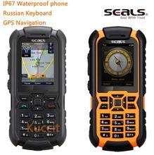 Desbloqueado teléfono Móvil marca Bretaña seals VR7 IP67 resistente a prueba de choques impermeable de Navegación GPS del teléfono Del Teclado Ruso