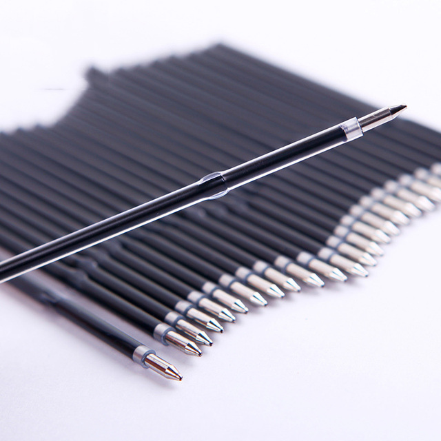 10PCS New Long 107mm Ballpoint Refills Factory Outlets Office School Stationery Ball Pen Refills 2