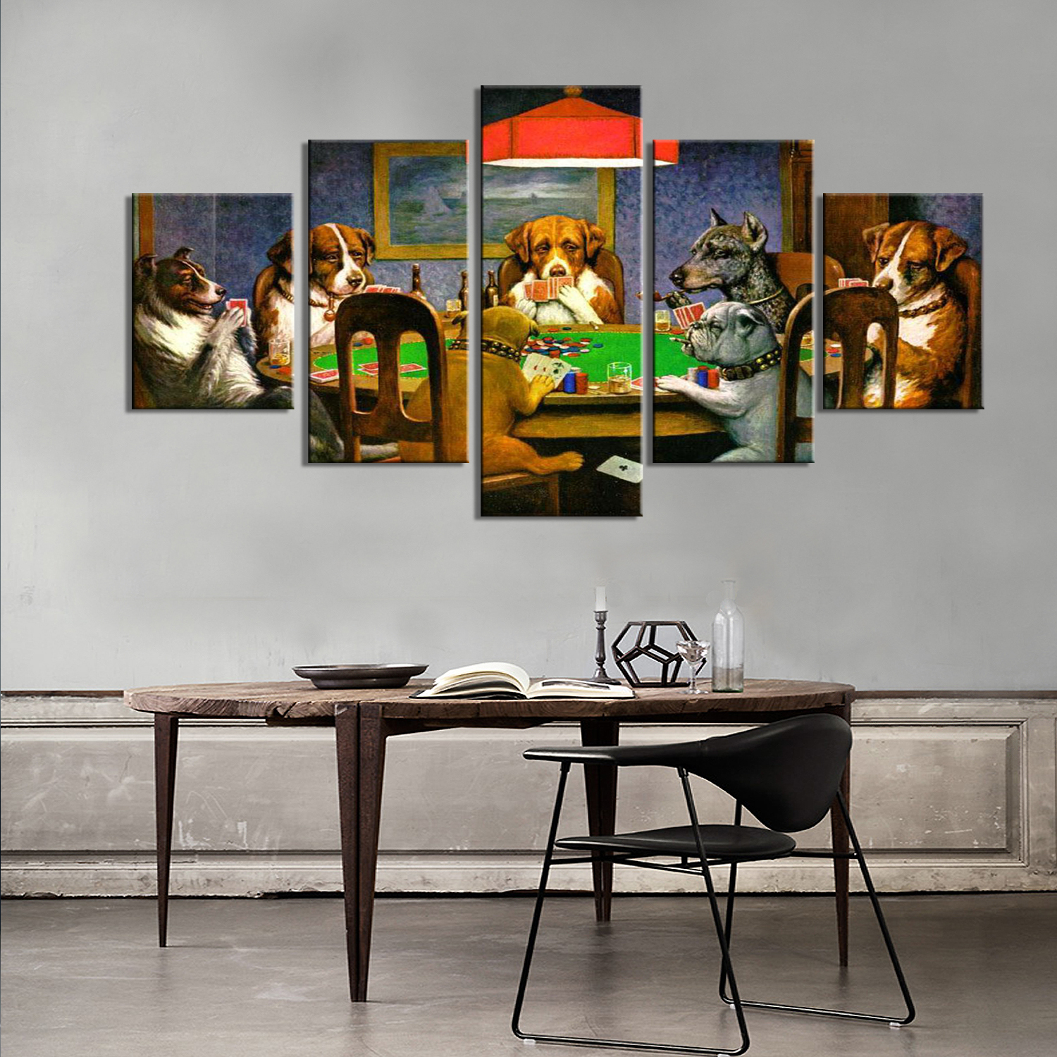 Drop Shipping 5 Piece Canvas Art Animal Wall Art Painting