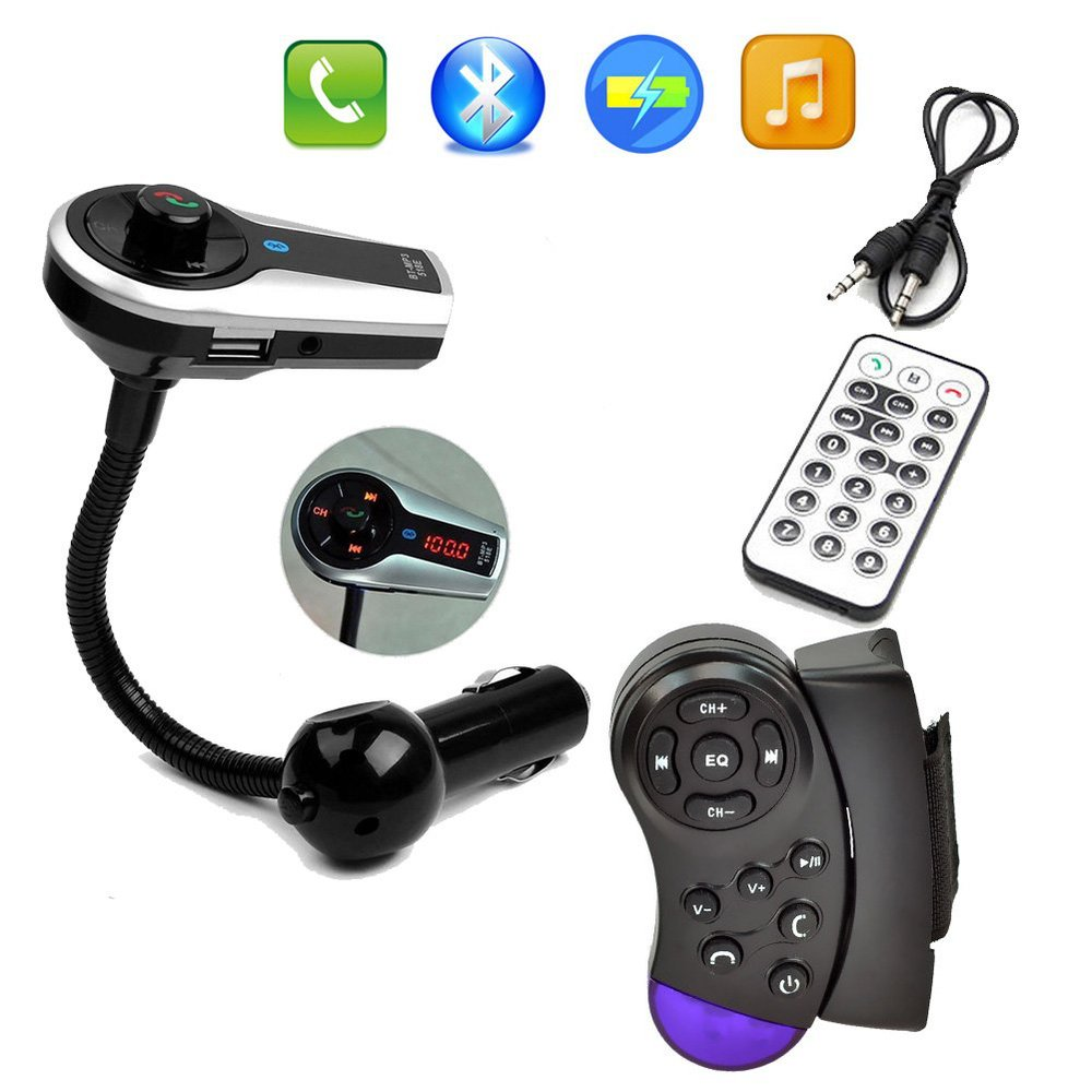 fm transmitter bluetooth handsfree car kit lcd mp3 music. Black Bedroom Furniture Sets. Home Design Ideas