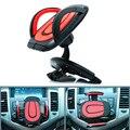 360 graus rotationg slot de cd carro traço titular suporte do telefone celular para samsung s4 s5 s6 edge iphone carros csl2017