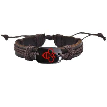 Customized  Bracelet Lovely Bee Leather Bracelet AliExpress Best Selling Handmade Bracelets 1
