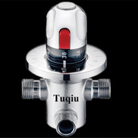 Thermostatic Brass Cartridge G1/2=DN15 Mixer Valve Hot Cold Water Temperature Control Mixing Bathroom faucet Accessories