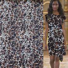 Sexy black and brown leopard print 100% pure silk satin Charmeuse fabric 16momme 113cm,SSC165