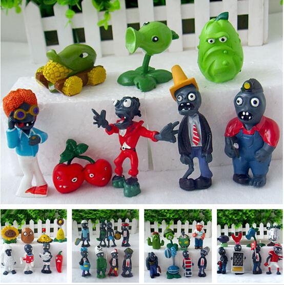 40pcs/set Plants vs Zombies Action Figure Toy Doll 3-7cm PVZ Collection Figures Toys Gifts plant Zombine