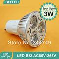 10pcs/lot GU10 E27 E14 MR16 Epistar led spotlight Bulb Lamp 3W Warm white/cold white Red Green Blue AC85-265V Free Shipping