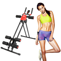 New Abdominal Fitness Cruncher Muscle Training Equipment For Bodybuilding Belly Shaper Coaster Roller Gym Training Machine HWC