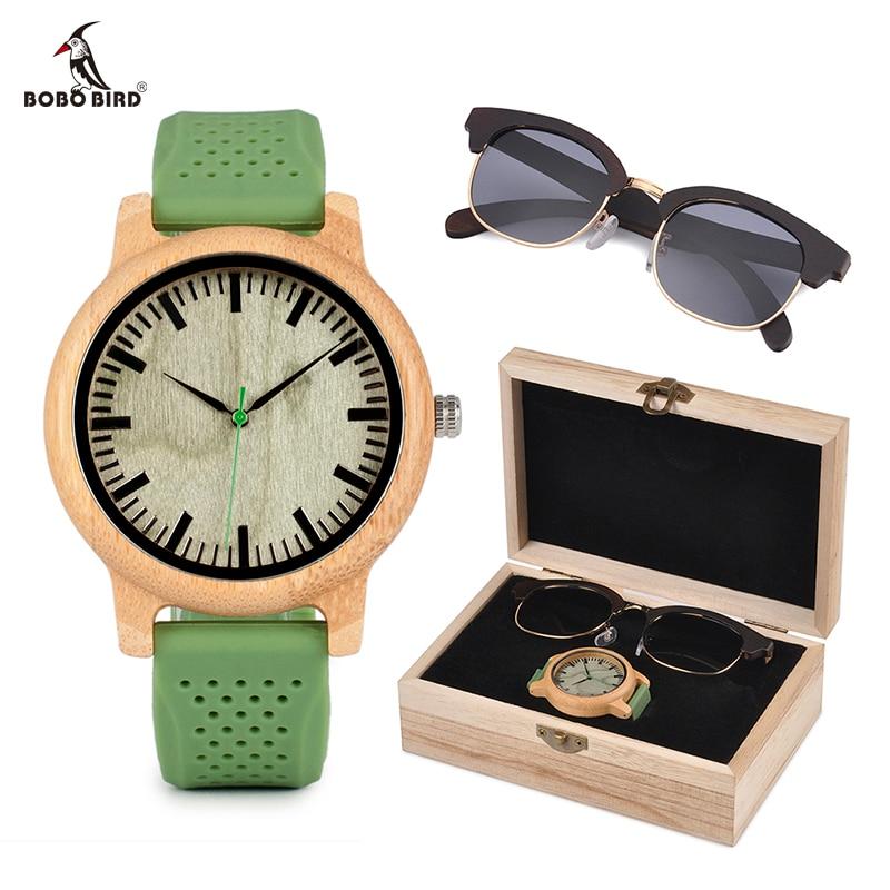 relogio feminino BOBO BIRD Wood Women Watches and Sunglasses Suit Present Box Luxury Gift Set for