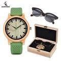 Женские часы и солнцезащитные очки BOBO BIRD Wood  подарочный набор для девушек с логотипом  Прямая поставка