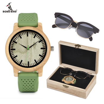 relogio feminino BOBO BIRD Wood Women Watches and Sunglasses Suit Present Box Luxury Gift Set for Lady Accept Logo Drop Shipping Women's Watches