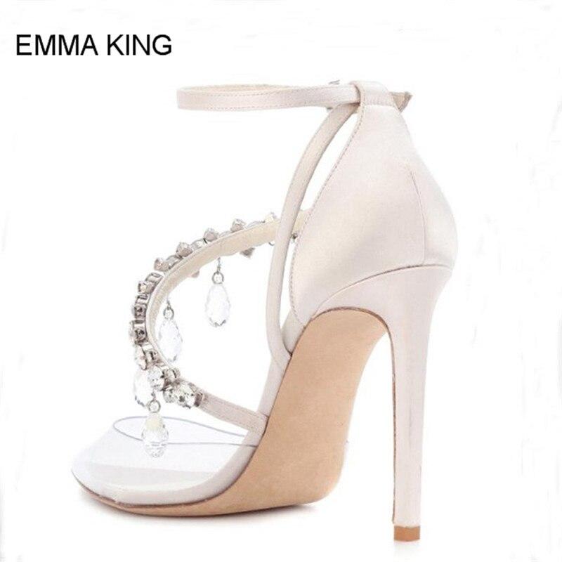 Mince Cheville Pompes Talons As Sandales Doux Cristal Style Emma Pvc Mujer Transparent Pointu Chaussures Roi Dames Femmes Picture Bout Hauts Sangle wqA0tOI