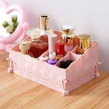5 Cells European Princess Cosmetics Storage Box Plastic Multi-functional Office Desktop Sundries Container Organizer
