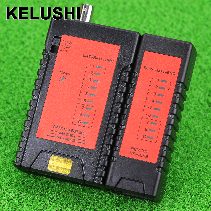 KELUSHI NF468B RJ45 RJ11 BNC Tester Network Cable Portable Tester Wire tracker tracer + With BNC Connector