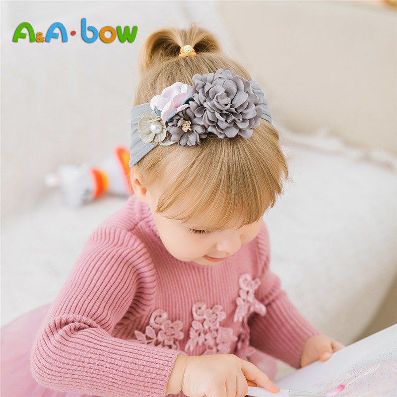 1pcs New Baby Headband  Flower Elastic Turban Hairband Baby Girl Head Wrap Warmer Headwear Girls Headbands
