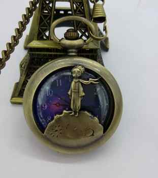 Vintage Fashion quartz stars baby Hollow out bronze Students present cowboy chain pocket watches Free shipping