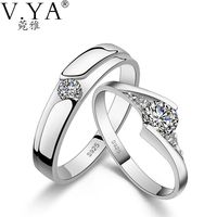 1 Pair Of Lover S Ring S925 Solid Silver Rings For Lover Jewelry 100 Real Genuine