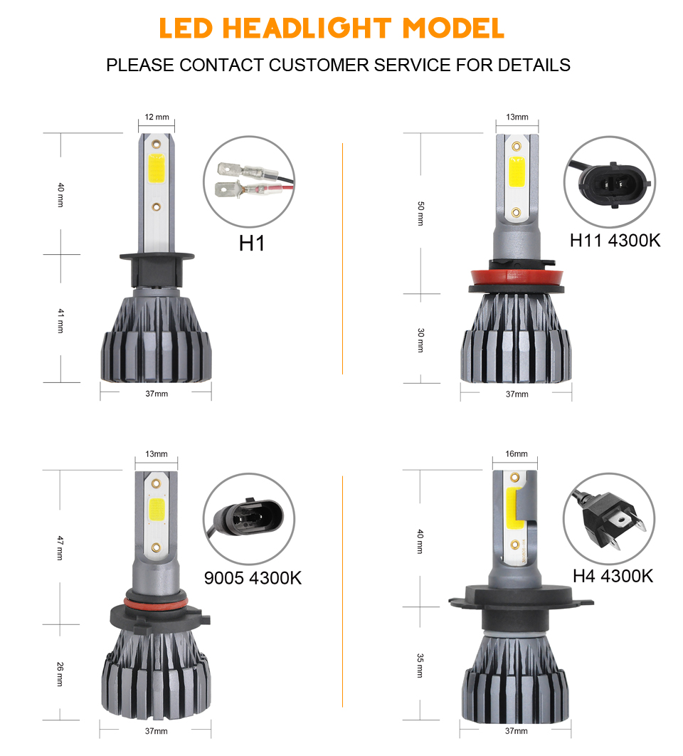 Detail Feedback Questions About Car Headllight H4 Led Bulb H1 H3 H11 Fluorescent Lamp Wiring Connection 6 Original Interface The Power Plug No Damage To Circuit