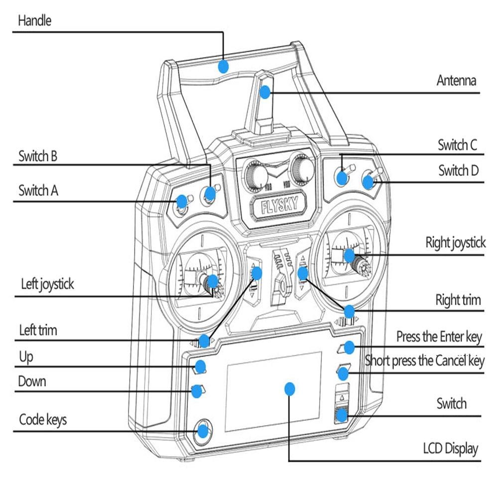 Flysky FS i6 FS I6 2 4G 6ch RC Transmitter Controller FS iA6 or FS iA6B flysky fs i6 fs i6 2 4g 6ch rc transmitter controller fs ia6 or fs fs ia6b wiring diagram at soozxer.org
