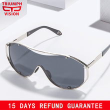 TRIUMPH VISION UV400 Shield Sunglasses Men Fashion Oversized