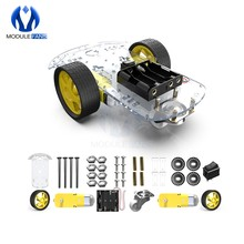 Diy Kit Elektronische Motor Intelligente Roboter Auto Chassis Kit Speed Encoder Batterie Box 2WD Tracking Hindernis Vermeidung Intelligente Auto(China)