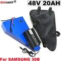 48V 20AH 1500W треугольный E-bike литиевая батарея 13S 48V блок батарей электрического велосипеда для Samsung 30B 18650 с зарядным устройством 5A