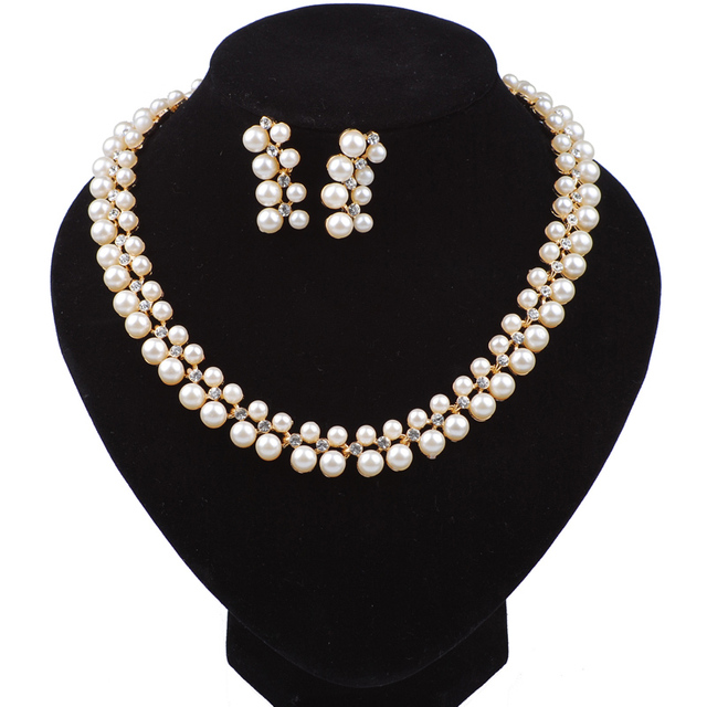 Simulated pearl Wedding Jewelry Sets New Fashion Hot Selling