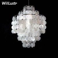 DIY Shell Pendant Lamp Diameter 26cm 38cm Shell lamps Fun 3 Circles seashell chandelier lights FUN pendant modern chandeliers
