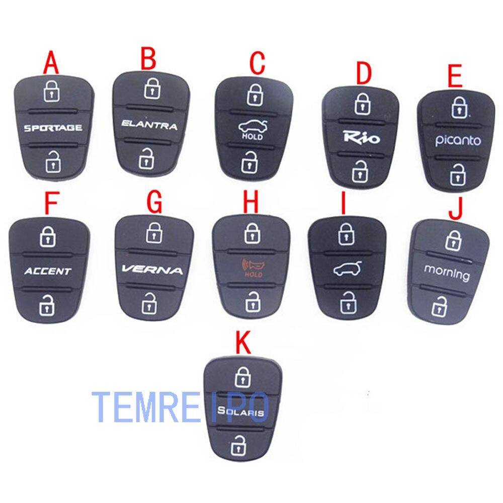 30 шт./лот 3 Кнопки резиновая силикагель запасной ключ крышка Корпуса чехол кнопка для Hyundai клавиши