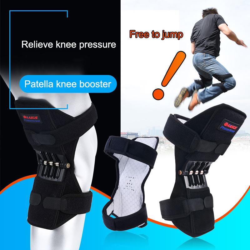 Newly 1 Pair Patella Booster Spring Knee Brace Support for Mountaineering Squat Sports 19ing