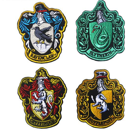 Cosplay Harry Potter House Crest Patches Hookloop Gryffindor