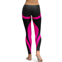 купить Women Yoga Pants Honeycomb Carbon Leggings Fitness Wear Workout Sports Running  Pants Push Up Gym Elastic Tights Slim Pants дешево