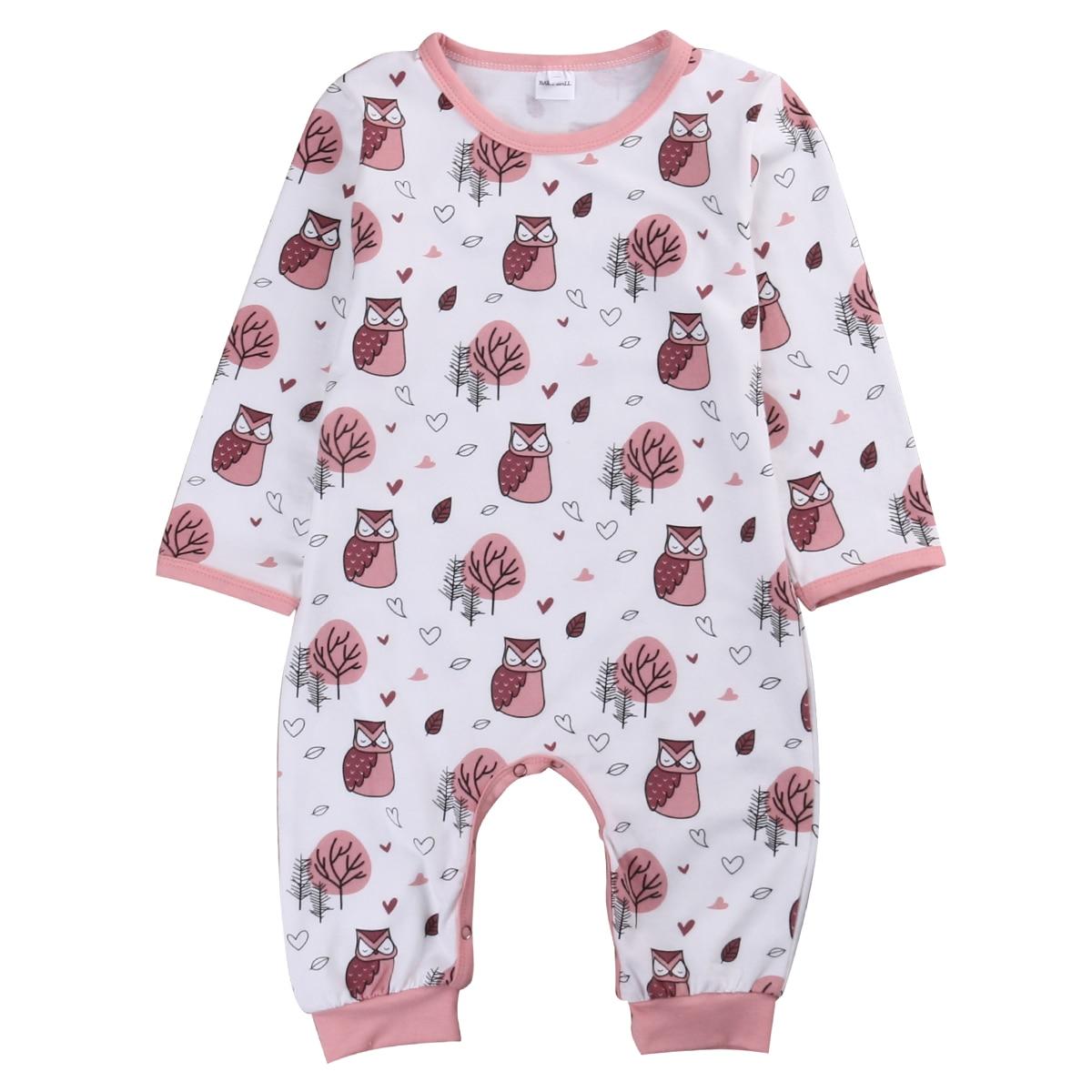 Newborn Baby Boys Girls Cute Owl Clothes long sleeve