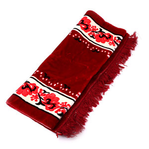 Image 3 - Muslim Prayer Rug Velvet Thick Classic Salat Islamic Moroccan Braided Mats Blue Red Purple 124*68CM