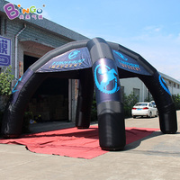 Free Shipping 4 Legs Type Inflatable Spider Tent With Digital Printing 8 Meters Dia Black Blow