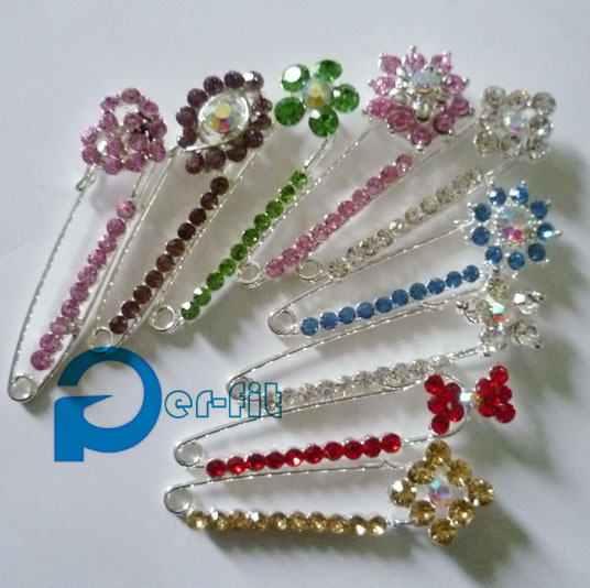 jewelry safety pin scarf shawl pins plastic big safety fix pin for hijab scarf 30pins/lot mix styles & colors free ship